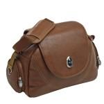 Tan Leather Changing Bag