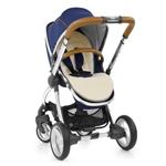egg Stroller with Fur Seat Liner - Cream