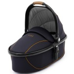 Carrycot on Black Frame with Espresso Fabrics