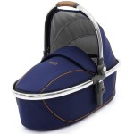 Carrycot on Mirror Frame with Regal Navy Fabrics